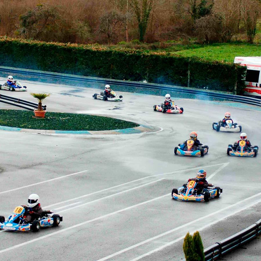 Competición karting para niños en Asturias